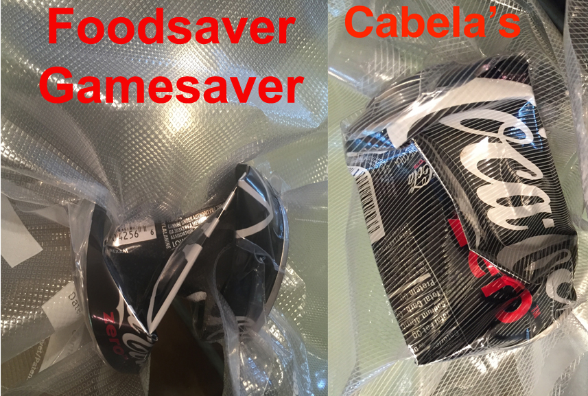 The Foodsaver Gamesaver has MUCH more vacuum power than the Cabela's Preservac
